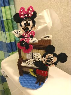 Mickey and Minnie Mouse Plastic Canvas 3D by disliltreasures, $39.00