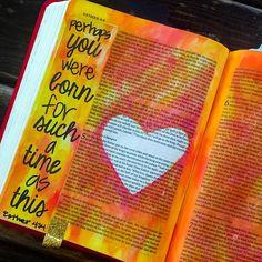 Chris And Katie @thesaltybiscuit Instagram photos | Websta Scripture Art, Bible Art, Bible Verses, Bible Study Journal, Journal Art, Art Journaling, Esther Bible, Catholic Bible, Journal Inspiration