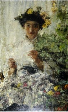 Madame Butterfly by Antonio Mancini (Italian 1852 - 1930)