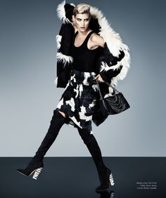 Alison Nix Channels Cruella de Vil for Harper's Bazaar Latin America by Jason Kim