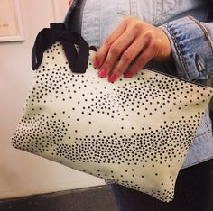 Our new star print flat clutch!