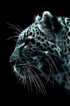 Snow Leopard Illustration iPhone Wallpaper