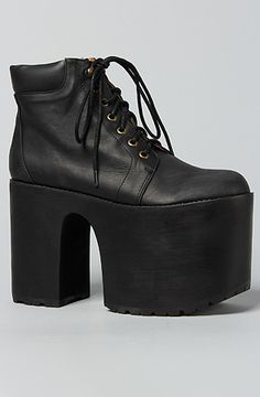 The Munster Shoe in Black by Jeffrey Campbell