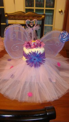 Diaper cake centerpiece tutu princess by bellajoshieaiden on Etsy, $39.99
