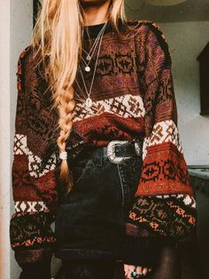 Boho Outfits, Winter Outfits, Casual Outfits, Fashion Outfits, Casual Shirt, 70s Outfits, Trendy Fall Outfits, Looks Hippie, Boho Looks
