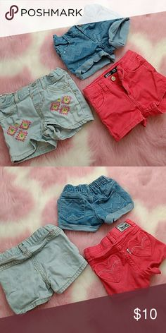 Set of 3 shorts! 1levi's, 1 children's place, 1 crazy 8....All are 2Ts. Am willing to break up and bundle with others in my closet! Levi's Bottoms