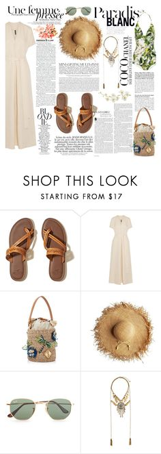 """""""nº 160   Island"""" by ss-080 ❤ liked on Polyvore featuring Hollister Co., Lisa Marie Fernandez, Aranáz, Ray-Ban, H&M, Zimmermann, Chanel, Pier 1 Imports, ootd and summerstyle"""