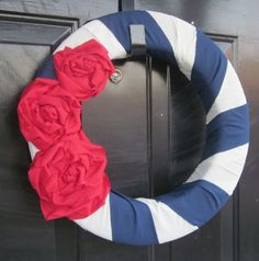 4th of July wreath-only about an hour to make and less than $10.