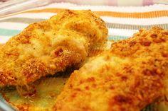 Filetes de pollo empanados al horno