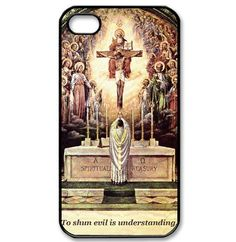Catholic pattern background cover case for iPhone 4/4s