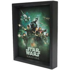 Pyramid America 3D Lenticular 'Star Wars - Rogue One - Rebel Soldier' Framed Graphic Art Shadow Box