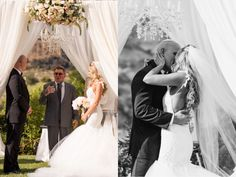 A look at Tal's colorful California wedding featuring her custom Lauren Elaine mermaid gown ~ See the full story and gorgeous images by Yair Haim Photography here: https://blog.lauren-elainedesigns.com/2016/10/22/tals-colorful-custom-california-wedding/