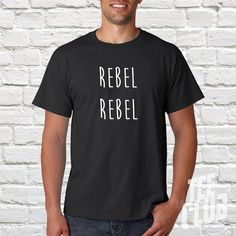 Rebel rebel T-shirt Bowie shirt David bowie rock tee by TeeClub