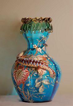 Moser Bohemian Art Glass Vase  c: 1885