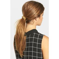 Ficcare Woven Mesh Ponytail Holder (160 DKK) ❤ liked on Polyvore featuring accessories, hair accessories, gold and ficcare