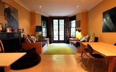 Living room    Solutions for a victorian house - warm and natural feel