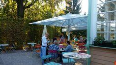 Der Gastgarten in angenehmer Herbstatmosphäre