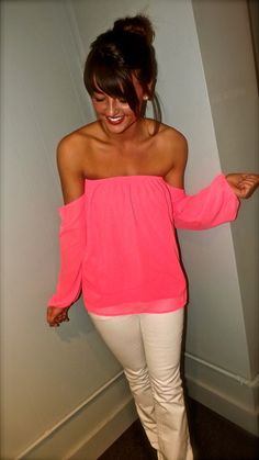 Perfect summer top. Very fun and different. Versatile and can be worn to anything from a night out to a baby shower!
