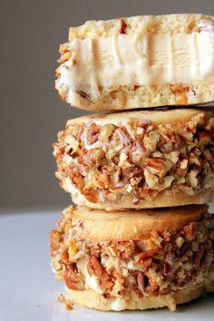 Walnut Shortbread Dulce de Leche Ice Cream Sandwich