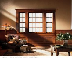 Andersen® Windows Energy Efficient 400 Series Woodwright® Double-Hung Windows - Andersen 400 Series Woodwright® double-hung window windows provide traditional beauty with its rich wood interior, classic sash profiles and milling detail worthy of fine furniture. The High-Performance™ SmartSun® glass helps protect your furniture, carpets and drapes by blocking out 95 percent of the damaging ultraviolet rays that can cause fading and it can be instrumental in reducing energy consumption.