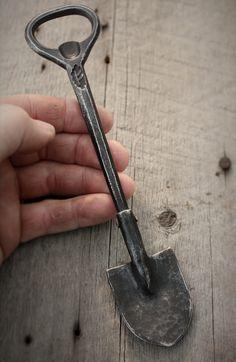 hand forged shovel bottle opener #2