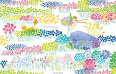 yoko hishida illustration Autumn Illustration, Pattern Illustration, Children's Book Illustration, Flora Pattern, Picture Story, Sketchbook Inspiration, Chalk Art, Surface Pattern Design, Japanese Art