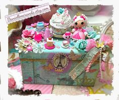 Marie Antoinette Let Them Eat a Cupcake La Sweet jewelry box by, Danielle Miranda Jewelry
