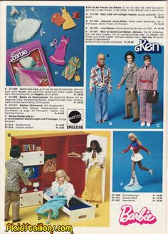 This Barbie and Ken 1970s toy ad! Lol I have questions