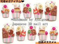 Deco nails 3D nails fake sweets miniature food party nail