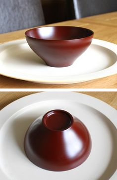 Red Urushi Bowl   by Kenichi & Minkao Fujii