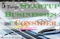 Venturing into business soon?Here are 5 things you should think and consider first before a startup business.