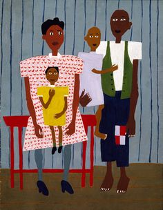 Folk Family by William H. Johnson / American ArtWilliam H. JohnsonMore Pins Like This At FOSTERGINGER @ Pinterest