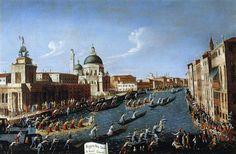 The Womens' Regatta on the Grand Canal - Giovanni Antonio Canal - Canaletto.