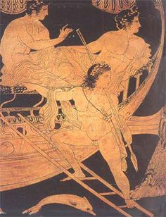(Jason and the Argonauts. detail from an Athenian red figure clay vase BC.) Visual of classic Greek art depicting a myth. Greek History, Ancient History, Art History, Classical Greece, Classical Art, Ancient Greek Art, Ancient Greece, Empire Romain, Greek Pottery