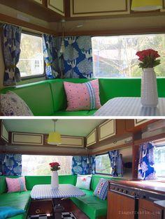 Decoration in retro caravan