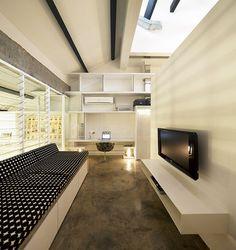 Industrial Expressive Design Showcasing Geometric Shapes and Volumes, design studio Farm #studio #interior #design
