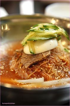 Naengmyeon (Korean buckwheat noodle)