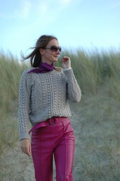 Pink power --> Oceanblue Style at Manderley Pantone, Pink Power, Trends, Outfit, Ruffle Blouse, Turtle Neck, Blouses, Elegant, Sweaters