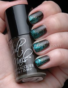 ~ Cult Nails ~ Swanbourne + Toxic Seaweed ... and, yeah, ok a little Revlon's Blue Mosaic on the tips :P Yummmm! #CultNails #JointheCult