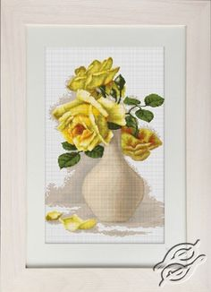 Yellow Roses - Cross Stitch Kits by Luca-S - B508