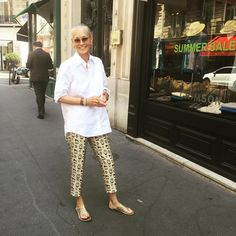 Summer Sales #CrimsonCashmere meanwhile my#CrimsonCashmere Cotton shirt is My Summer uniform with #Rondini  Sandals and silk printed pants #GiambattistaValli