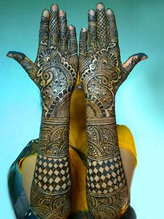 Bridal Mehndi Designs for Wedding 2017 For Full Hands. Bridal Mehndi designs sometimes colorful with black and red with henna.