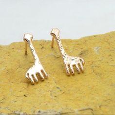 Fossil ohrstecker giraffe