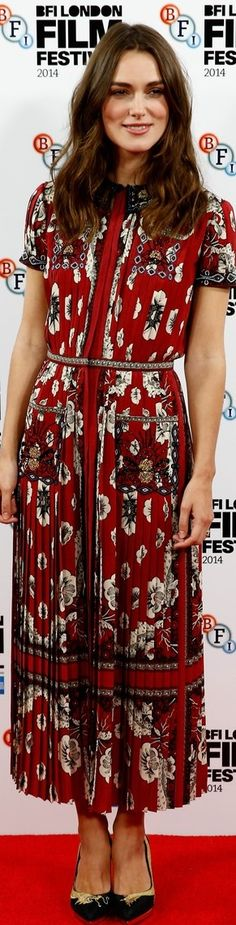 Keira Knightley In Valentino – 'The Imitation Game' London Film Festival Photocall