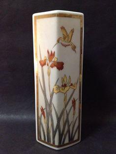 Pre Owned Japanese Hexagonal Vase - Gold Gilt & Silver Gilt Art of Chokin Vintage Ceramic, My Ebay, Porcelain, Vase, Japanese, Ceramics, Tableware, Silver, Gold