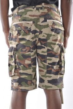 The Official Lil' Wayne Clothing Collection Features: 4 Front Pockets, 2 Back Pockets Secret Stash Pocket On Front Zipper Fly, Closure Machine Washable 100% Cotton  http://apparelzoo.com/zoo_man/mens/new-arrivals/trukfit-woodland-cargo-shorts-camo.html