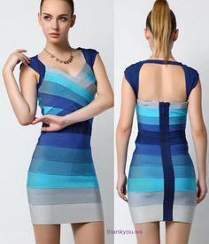 Rochii bandage - in tinuri de albastru Bandage, Club, Fashion Design, Dresses, Style, Vestidos, Swag, Dress, Gown