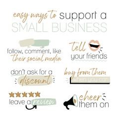 Small Business Quotes, Small Business Saturday, Support Small Business, Business Tips, Business Networking, Craft Business, Positive Quotes, Motivational Quotes, Inspirational Quotes