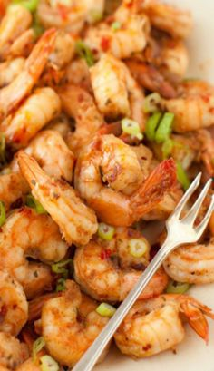 Hot and Juicy Shrimp with Spicy Garlic and Ginger Sauce.