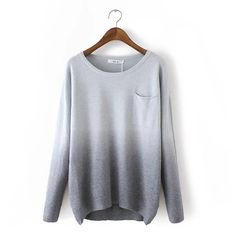 8c4916458f Gray Sweater in Gradient Color  cabled-long-sweater  cabled-sweater